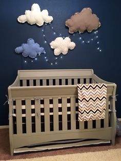 Grey crib makeover  I almost threw away this crib and bought a new one. So glad I decided not to.