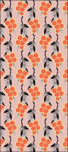 Art Deco Oranges repeat No 1 stencils, stensils and stencles