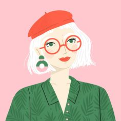 portrait illustration How Illustrator Charly Clements Grew . Illustration Vector, Portrait Illustration, Character Illustration, Illustrations Posters, Character Sketches, Illustration Simple, People Illustrations, Mouse Illustration, Animal Illustrations