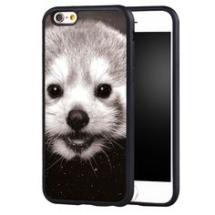 Kawaii Red Panda Printed Protective Soft TPU Skin Mobile Phone Cases OEM For iPhone 6 6S Plus SE 5 5S 5C 4 4S Back Shell Cover