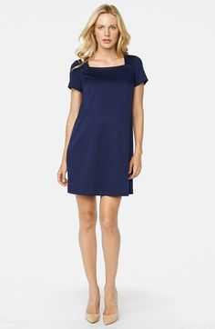 Maternal America Button Maternity Shift Dress available at #Nordstrom