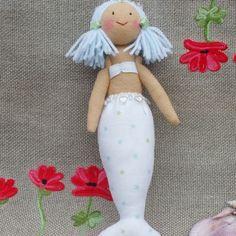 Felt Mermaid Doll | Delicate Starry Cotton | by Karen Sheppard
