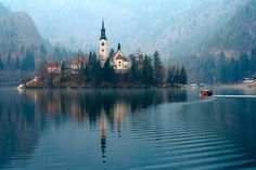 Lake Bled, Slovenia I can't even express the beauty I feel when I look at this.