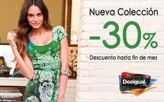 30% de descuento en la nueva colección de Desigual 30% discount on the new collection of Desigual http://redmoda.net