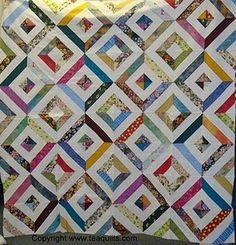 strips and salsa quilt pattern | Visit teaquilts.blogspot.com