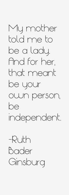 Be a lady.