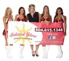 Custom Spray Tan sponsorship for Washington Redskins Cheerleaders 2014