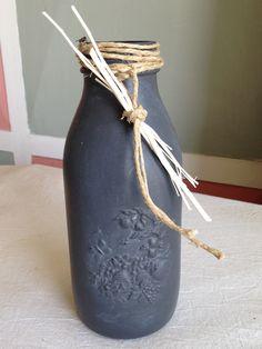 bottigliain vetro Bormioli   colorata a mano