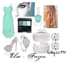 """""""Elsa, from Frozen"""" by vicky26998 ❤ liked on Polyvore featuring CARAT*, LeVian, Jon Richard, Christian Louboutin, L'Oréal Paris, Shiseido, Victoria's Secret PINK, Winter and disney"""