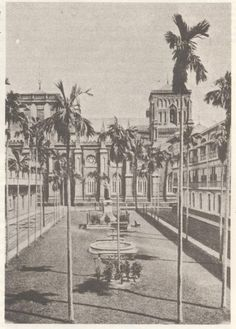 Plaza Benavides of UST: Taken from the American Historical Collection Manila Philippines, University Of Santo Tomas, Philippine Architecture, Spanish Galleon, Intramuros, Today In History, Walled City, Old Photos, Saints