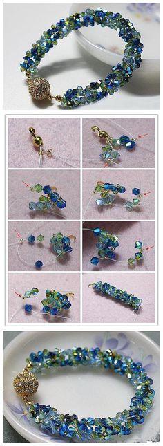Como hacer un brazalete precioso