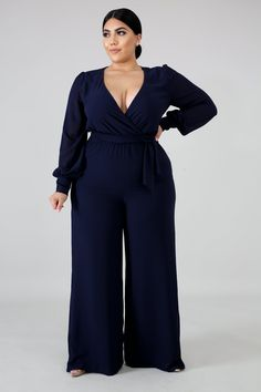 5 Fashionable Plus-Size Work Outfits for Women - Fasneshion Curvy Outfits, Classy Outfits, Plus Size Outfits, Work Outfits, Plus Size Chic, Look Plus Size, Palazzo Jumpsuit, Plus Size Jumpsuit, Curvy Girl Fashion