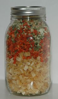 Store Prepared Soup Mixes - A Few Ideas for Food Storage in Small Spaces with NO Basements!