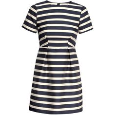 H&M Striped dress (155 HRK) ❤ liked on Polyvore featuring dresses, h&m, robes, vestidos, short sleeve dress, short striped dress, blue short sleeve dress and h&m dresses