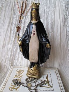 Virgin Mary Religious Statue/ Home Decor/ by happybdaytome on Etsy, $185.00