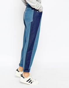 Image 3 ofASOS WHITE Ovoid Mom Jeans