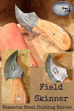 Field Skinner from Cold Steel Outdoors.  World Class Damascus Steel Hunting Knives. http://coldsteeloutdoors.com/collections/damascus-steel-knives