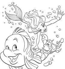 Resultado de imagem para desenhos para colorir de ariel