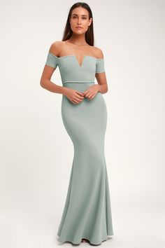 Enchantress will be your middle name when you step out in the Lulus Melora Slate Blue Sleeveless Maxi Dress! Sleeveless maxi dress with mermaid hem. Sexy Dresses, Blue Dresses, Beautiful Dresses, Formal Dress Shops, Formal Gowns, Blue Cocktail Dress, Cocktail Dresses, Bridesmaid Dresses Online, Online Dress Shopping