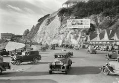 """An interesting look at San Francisco car culture circa """"Ocean Beach Playland -- Red Bug and Cliff House on Great Highway. Us History, American History, Cliff House San Francisco, San Francisco Earthquake, Sutro Baths, Best Weekend Getaways, Palace Of Fine Arts, Places In California, San Fernando Valley"""