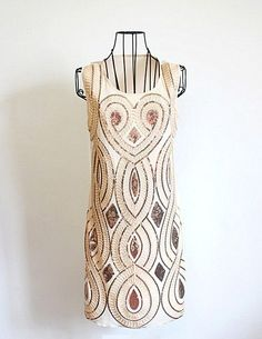 1920s Style Icon Vintage Look Flapper Sequin Deco Gold Gatsby Charleston Dress