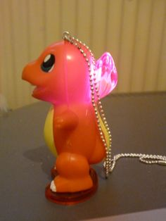 Chamander Pokemon Necklace Lights Up by AdorablyHandCrafted, £7.00