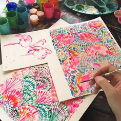 Did you know that the Lilly Print Designers paint every single print on our line by hand? AKA when you're wearing Lilly you're wearing original ARTWORK straight from our Print Studio.