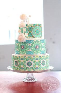 Tiled Pattern Cake - loved...