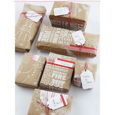 Thats VERY creative!  Trader Joe's Paper Bag Gift Wrap  #Christmas #Gift #Wrapping
