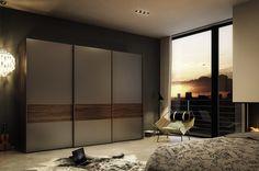 LACQUERED WALNUT WARDROBE WITH SLIDING DOORS MULTI-FORMA II | WALNUT WARDROBE | HÜLSTA-WERKE HÜLS