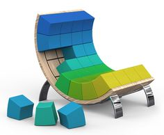 The Ego 'smart' chair lets you put your own twist on the design in a simple and fun way! Mix up the color scheme or create