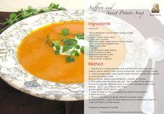 #Winter warm up, an original Tas-Saff #recipe, saffron and sweet potato soup.  #saffron #sweetpotato #soup Woolworths Australia McKenzie's Foods