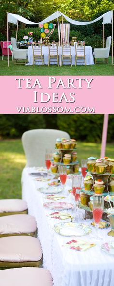 Tea Party Ideas for a fabulous afternoon tea, or a baby shower or a bridal shower!