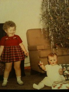 Vintage Holiday: Christmas 1959 - ok, so the focus is a little off, but OMG! the joy!!!  Love this snapshot.