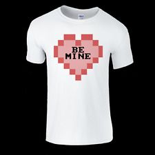 Be Mine Pixel art Heart T-Shirt Mens & Ladies available in Clothes, Shoes & Accessories, Women's Clothing, T-Shirts | eBay