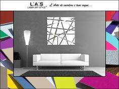 #CuriosityLAS Do you like this geometric wall sculpture, but you would want more color? No problem: you can choose among 34 tones! CODE: SI-095 SIZE: 90x90 cm | white http://www.laserartstyle.it/home/gallery/astratti/