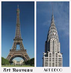 Art Nouveau vs Art Deco - Eiffel Tower vs Chrysler Building Art Nouveau is flowery, Art Deco is stream lined and functional. Art Nouveau, Art Studio Room, Eiffel Tower Art, Black Art Painting, Art Deco Buildings, Game Concept Art, Diy Canvas Art, Chrysler Building, Small Art