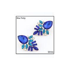 Ref: EF006 Blue Tulip . Medidas: 3.9 cm x 2.6 cm . So Oh: 6.99 . Disponível para entrega imediata! Boas compras! #sooh_store #onlinestore #elegance #flower #brincos #earrings #fashion