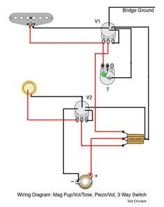 stratocaster wiring diagrams schematics strat guitar diy 1 single coil 1 vol and 1 tone 1 piezo