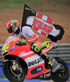 Valentino Rossi and SuperSIC58 Flag