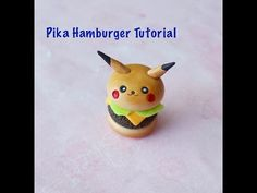 Kawaii Pikaburger polymer clay charm tutorial