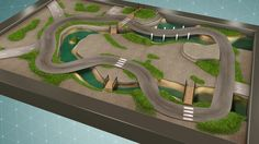 "CARPETO ""Le circuit urbain"" 180x120 cm"