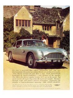 Aston Martin DB5, Car Advert, 1960s
