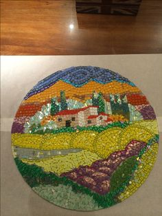 Country scene Mosaic coffee table top by fd Shev