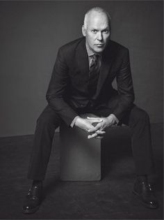 Michael Keaton, photographed by Mark Abrahams for L'Uomo Vogue, Sep 2014.