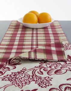 Table Runner Red, off White Floral Table Runner, 108' inch Floral and Plaid Reversible Table Runner Table Linens - Christmas Berries (108 inch) *** Read more at the image link. (This is an affiliate link) #SimpleHomeDecor