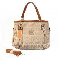 New Cheap Michael Kors Online UK Pebbled Large Khaki Shoulder Bags Outlet With 72% Off Discounts Sale.
