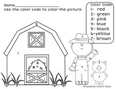 farm animal color by number printables color by number farm animal