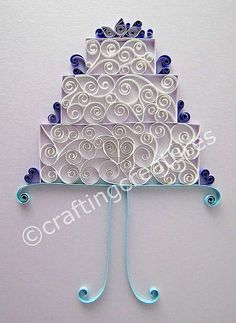 quilling wedding | Quilled Wedding Cake 1 | Flickr - Photo Sharing!