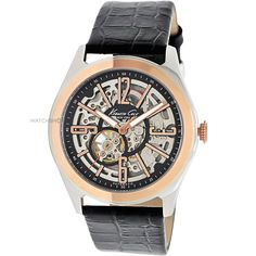 When slick and formal is required: Mens Kenneth Cole Skeleton Automatic Watch KC1792